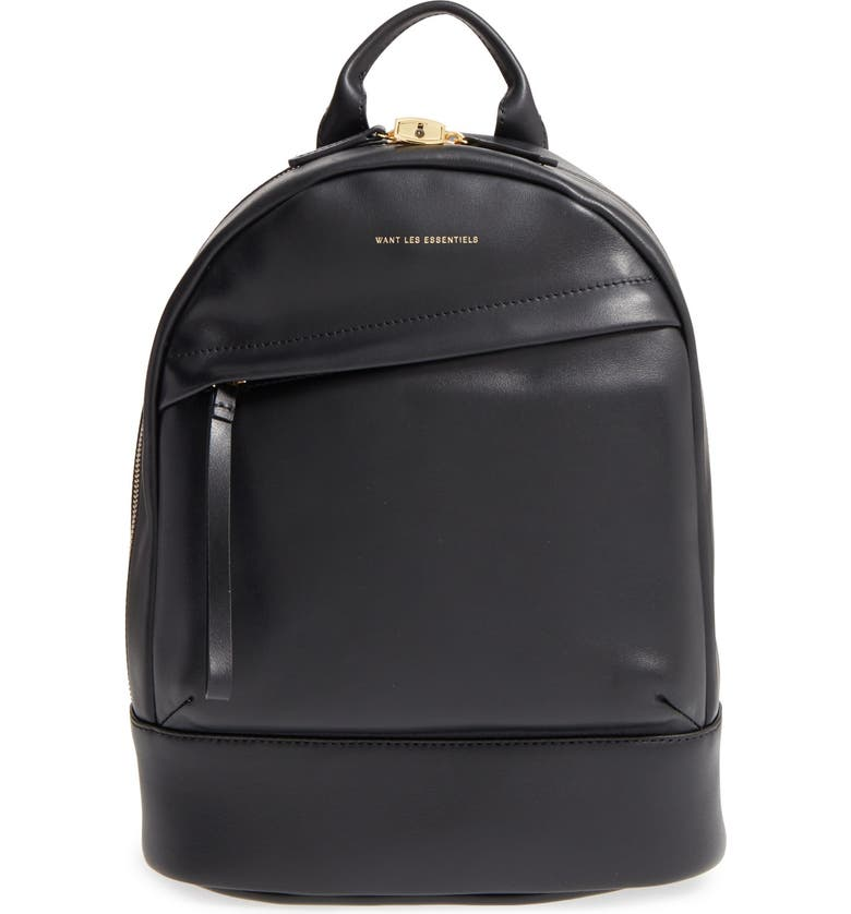 WANT LES ESSENTIELS 'Mini Piper' Leather Backpack, Main, color, 001