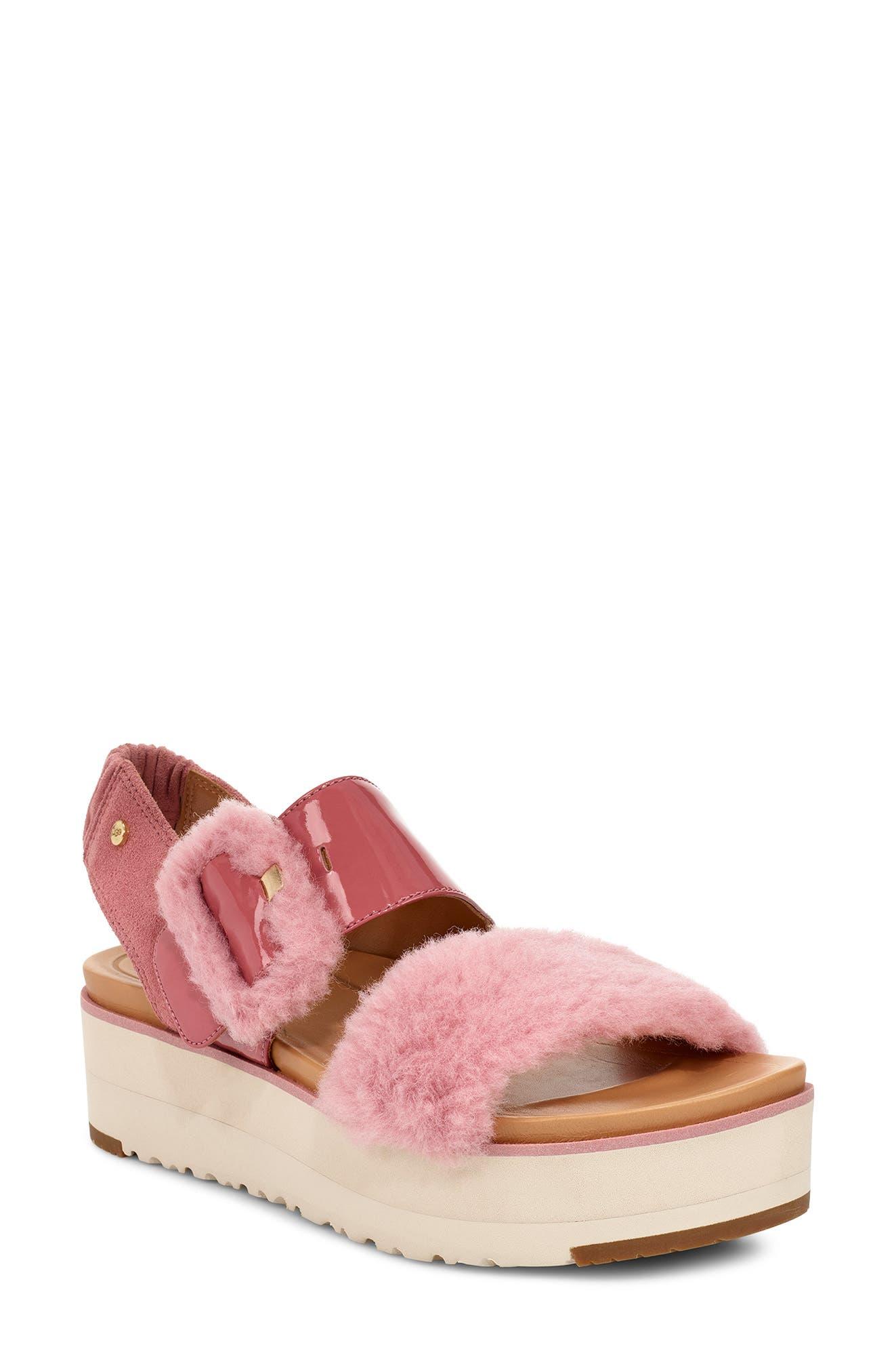 Ugg Le Fluff Flatform Sandal, Pink
