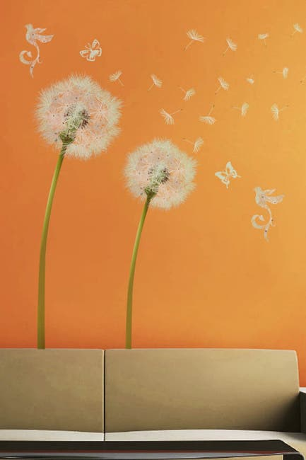 Image of WalPlus White Dandelion Decal