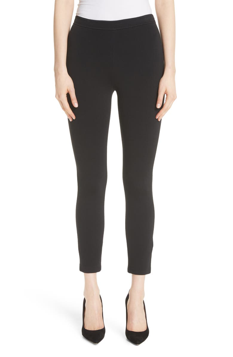 ST. JOHN COLLECTION Alexa Milano Knit Pants, Main, color, CAVIAR