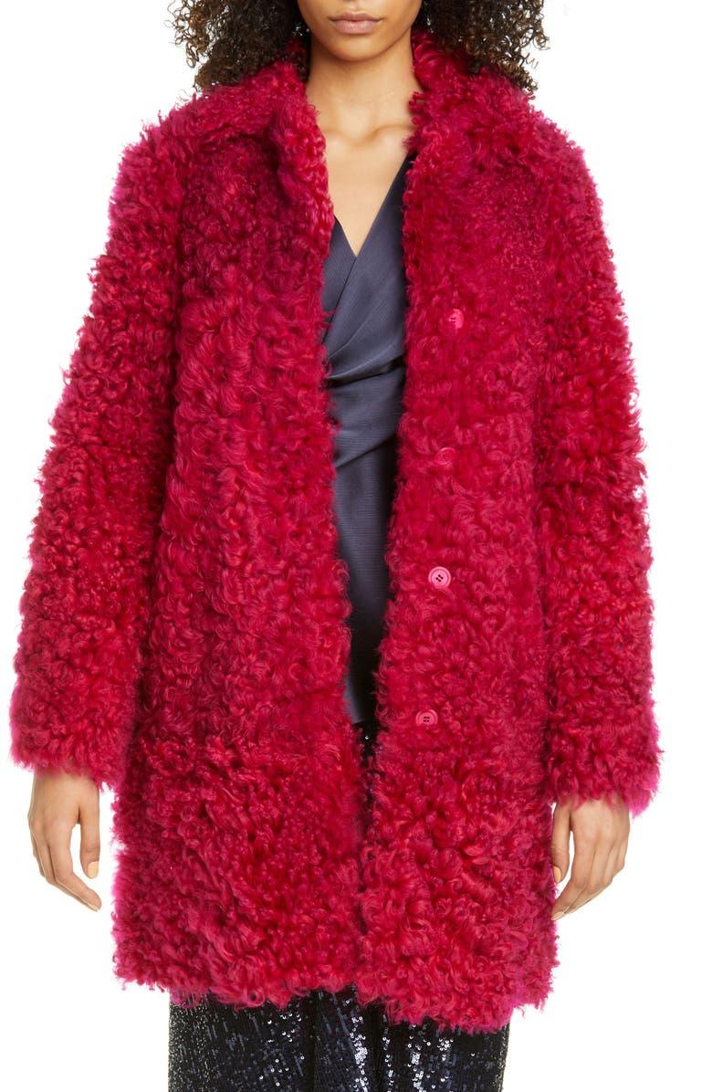 SIES MARJAN Genuine Shearling Coat, Main, color, 600