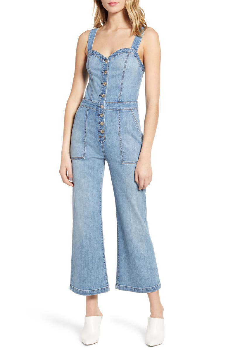 7 FOR ALL MANKIND<SUP>®</SUP> Corset Tank Jumpsuit, Main, color, 400