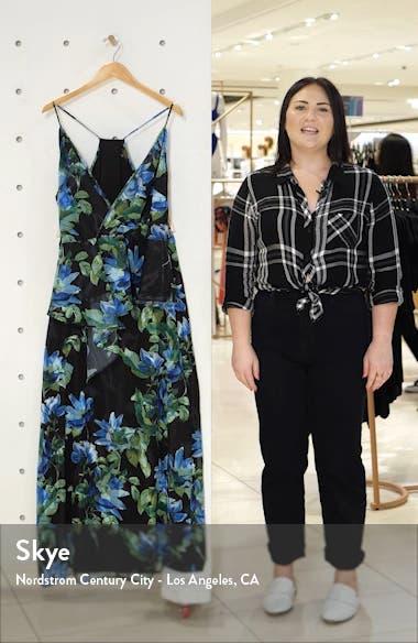 Floral Print Two-Piece Maxi Dress, sales video thumbnail