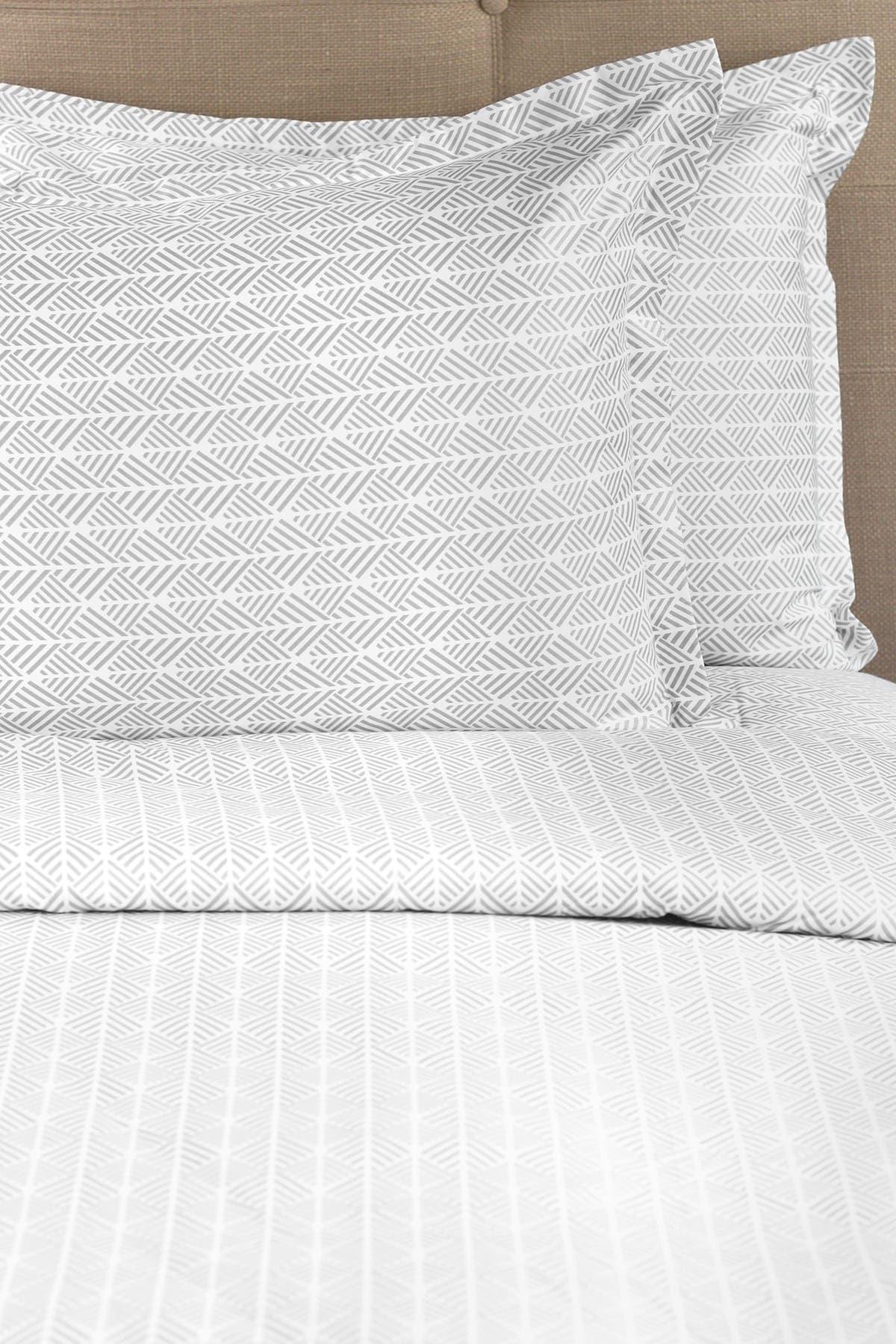 Image of Melange Home Full/Queen 400 Thread Count Cotton Arrow Duvet Set - Grey