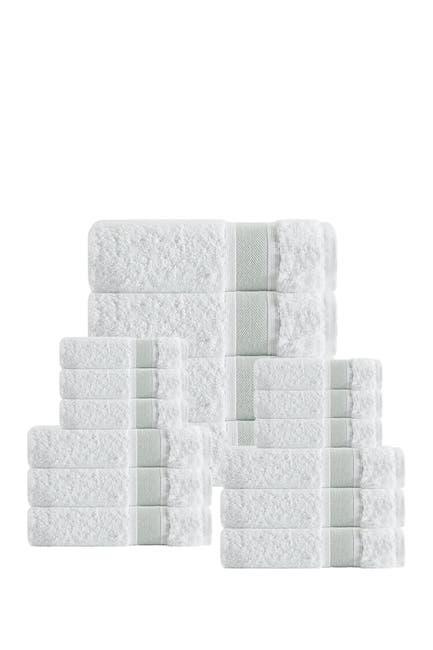 Image of ENCHANTE HOME Unique Turkish Cotton 16-Piece Towel Set