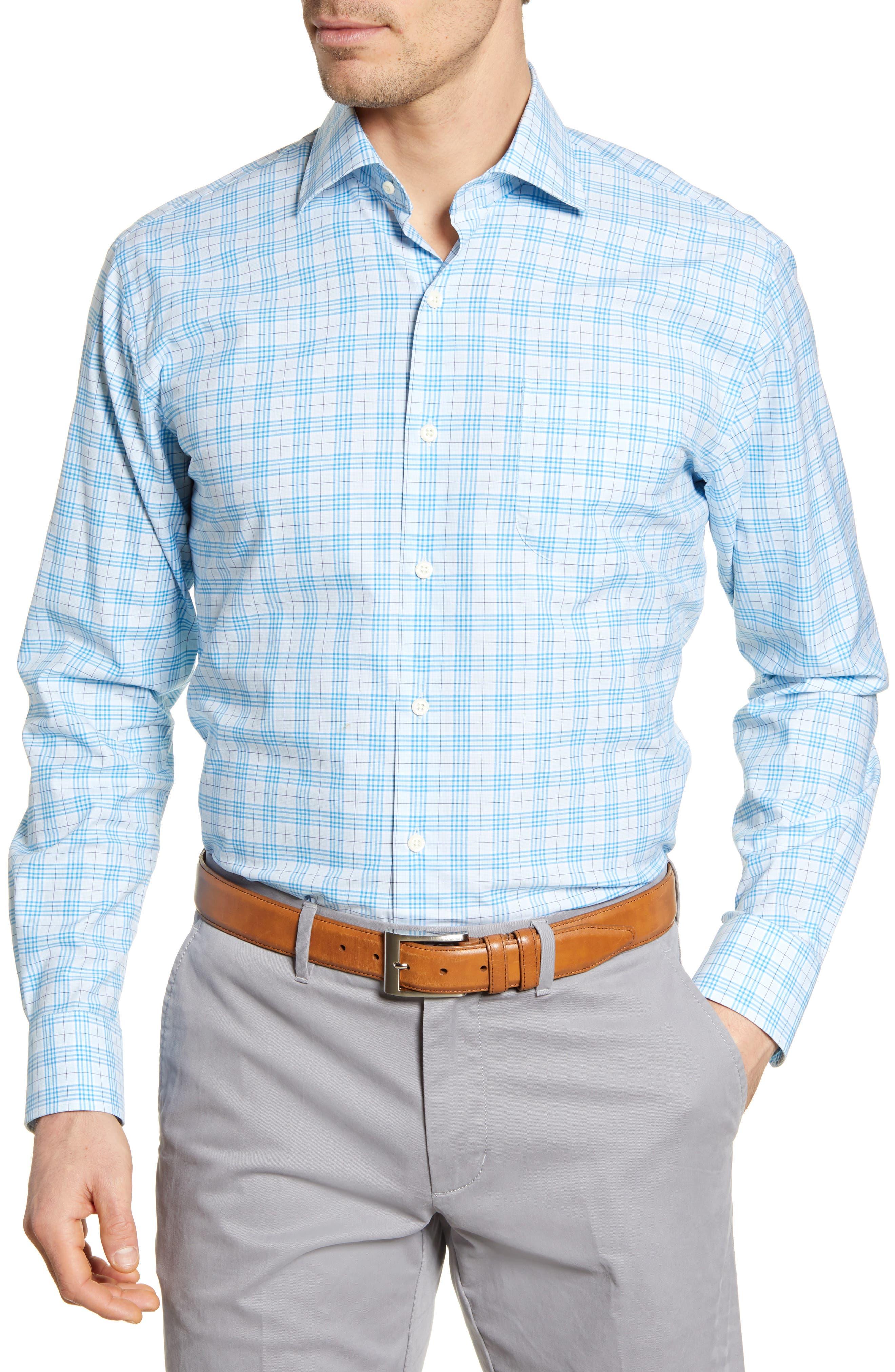 Image of Peter Millar Quint Plaid Regular Fit Sport Shirt