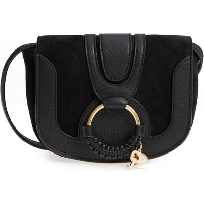 See By Chloe Mini Hana Leather Crossbody Bag - Black