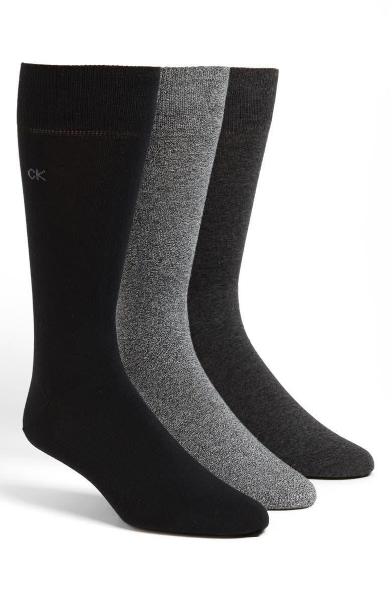 Calvin Klein Assorted 3 Pack Socks