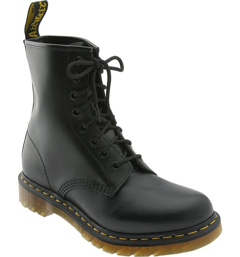DR. MARTENS '1460 W' Boot, Main, color, BLACK