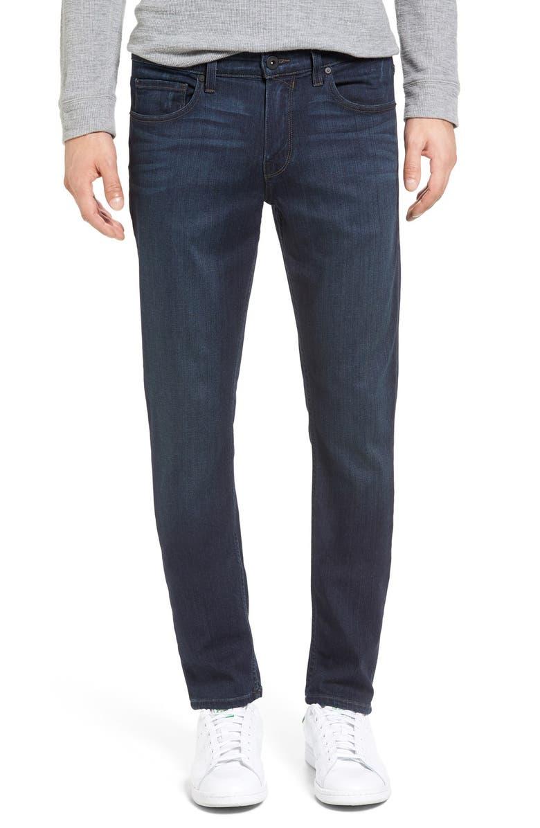 PAIGE Transcend - Croft Skinny Fit Jeans, Main, color, AFTER HOURS