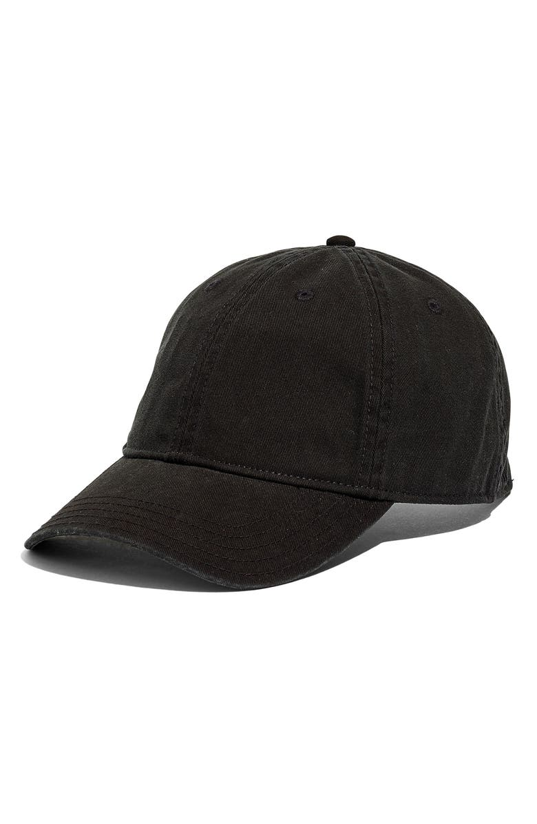 MADEWELL Broken In Baseball Cap, Main, color, TRUE BLACK