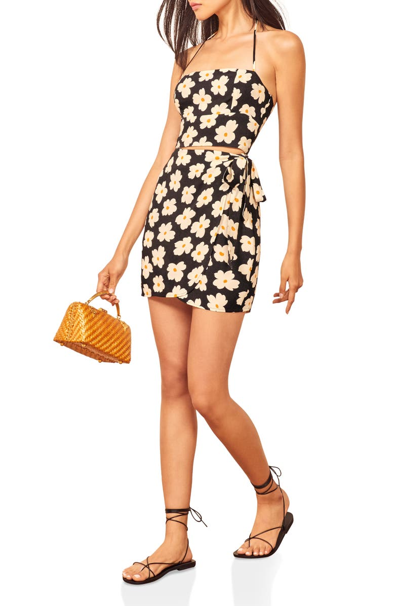Reformation Coconut Cutout Minidress