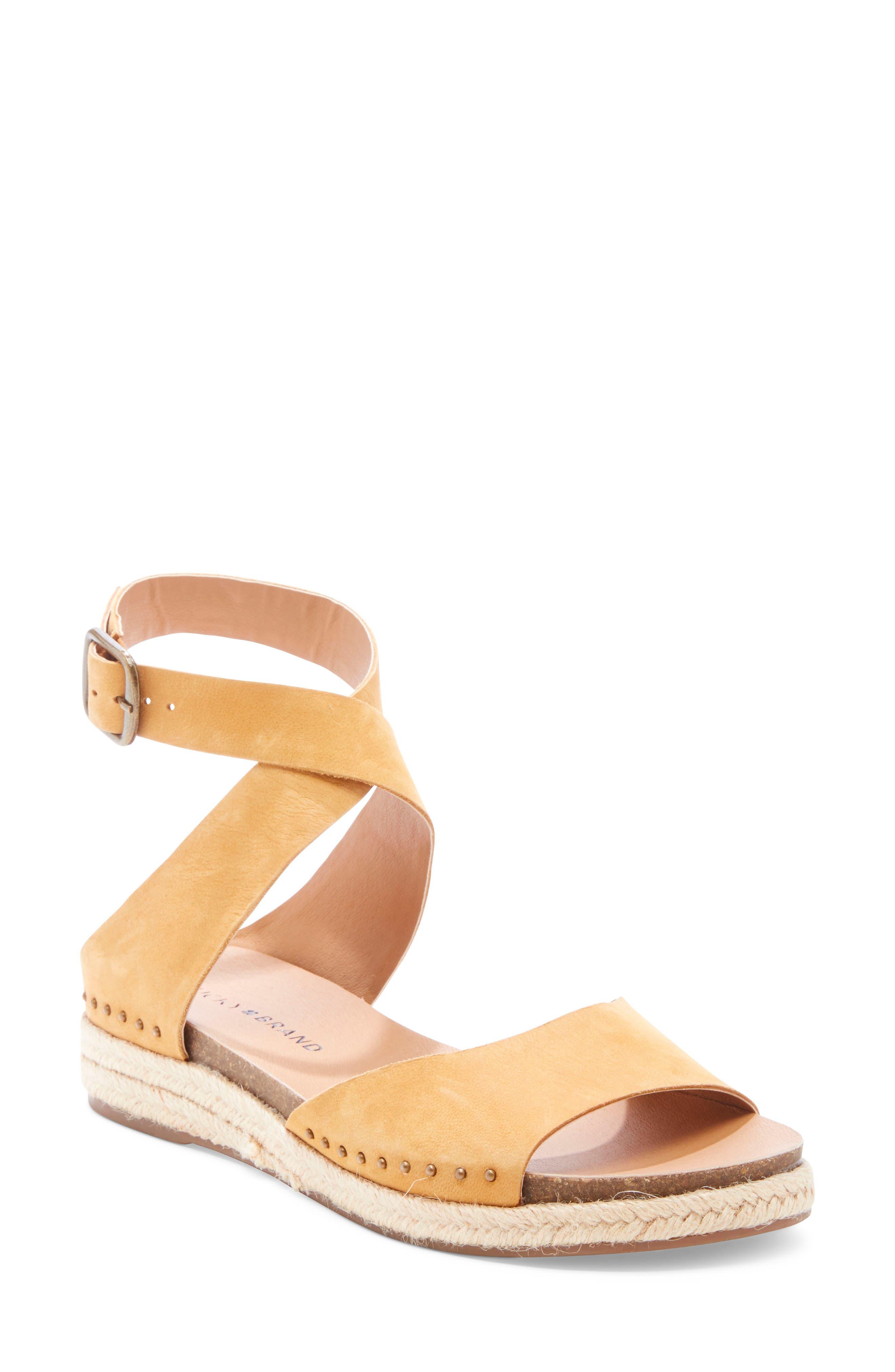 Lucky Brand Gladas Wedge Espadrille Sandal, Brown