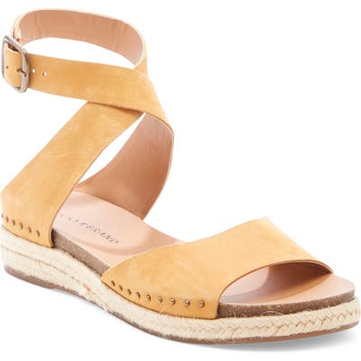 Lucky Brand Gladas Wedge Espadrille Sandal, Brown