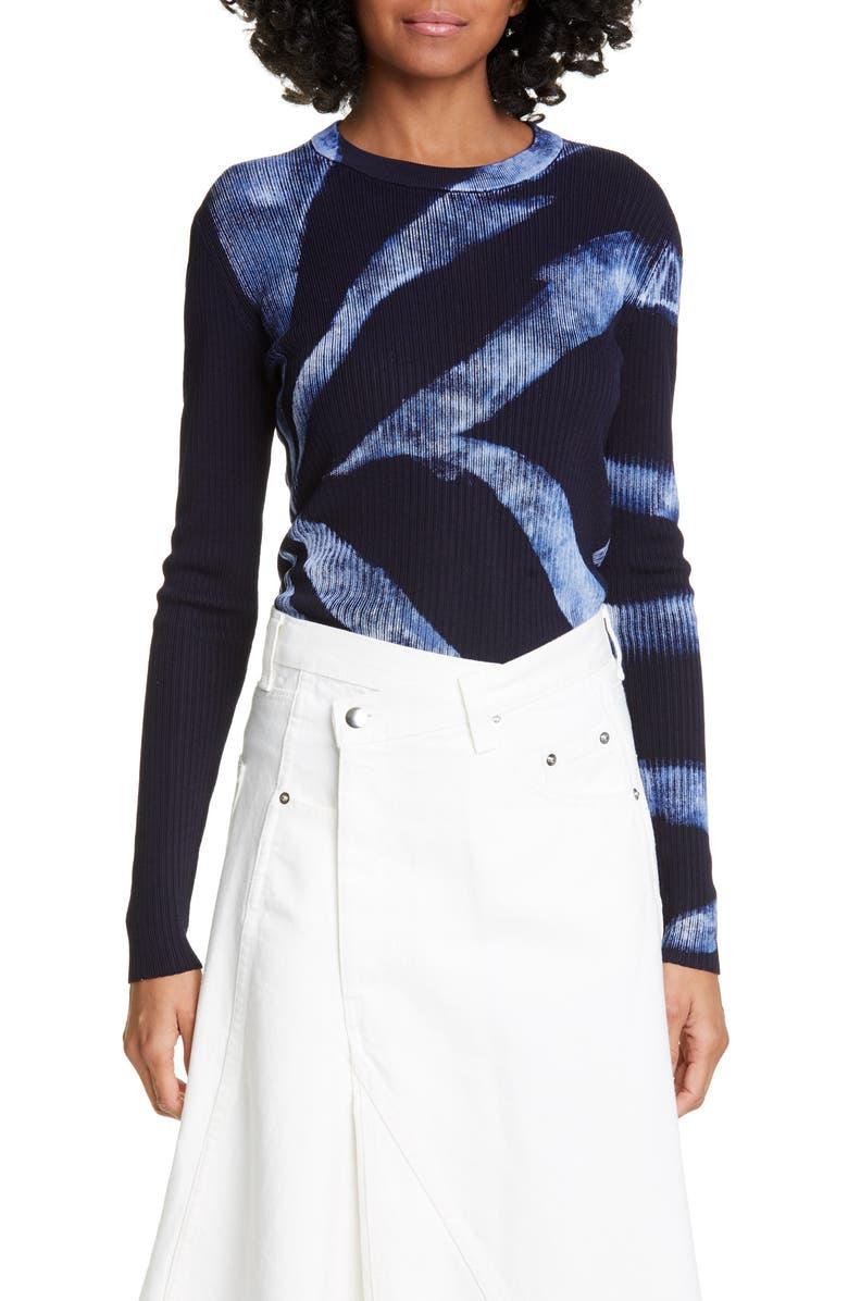 PROENZA SCHOULER Tie Dye Rib Sweater, Main, color, 409