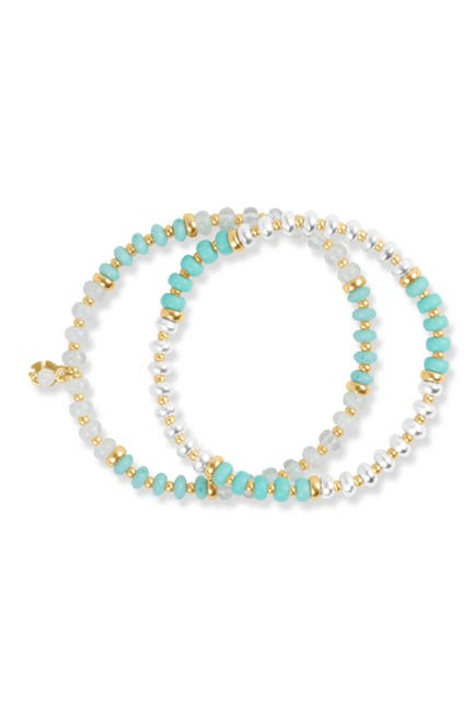 Image of Lucky Brand Beaded Layered Bracelet Set
