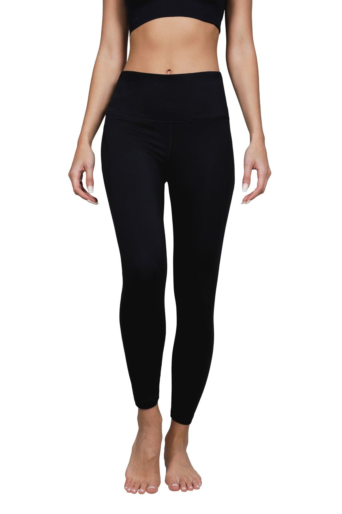 Image of 90 Degree By Reflex Lux High Rise Back Pocket Ankle Leggings