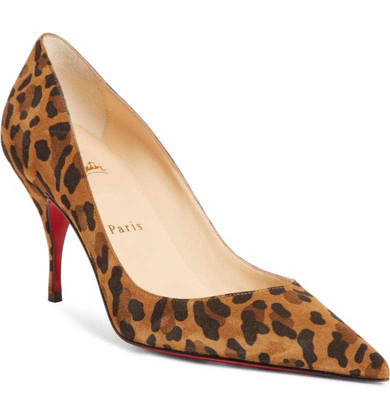 CHRISTIAN LOUBOUTIN Clare Pointy Toe Pump, Main, color, LEOPARD