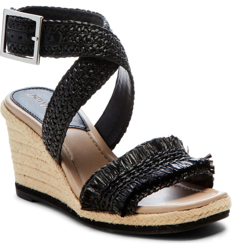 ENZO ANGIOLINI Patsie Espadrille Wedge, Main, color, BLACK FAUX LEATHER