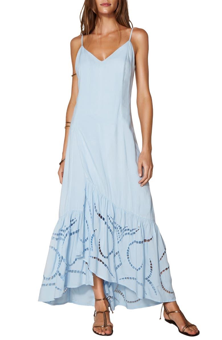 VIX SWIMWEAR Emma Cover-Up Maxi Dress, Main, color, LIGHT BLUE