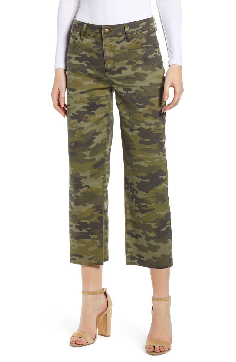 TINSEL Camouflage Wide Leg Crop Pants, Main, color, CAMO
