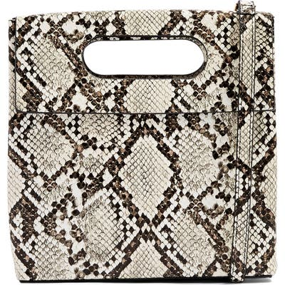 Topshop Gem Flap Handle Grab Bag - Beige