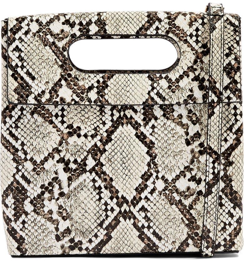 TOPSHOP Gem Flap Handle Grab Bag, Main, color, NUDE MULTI