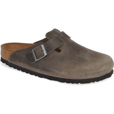 Birkenstock Boston Soft Clog,10.5 - Grey