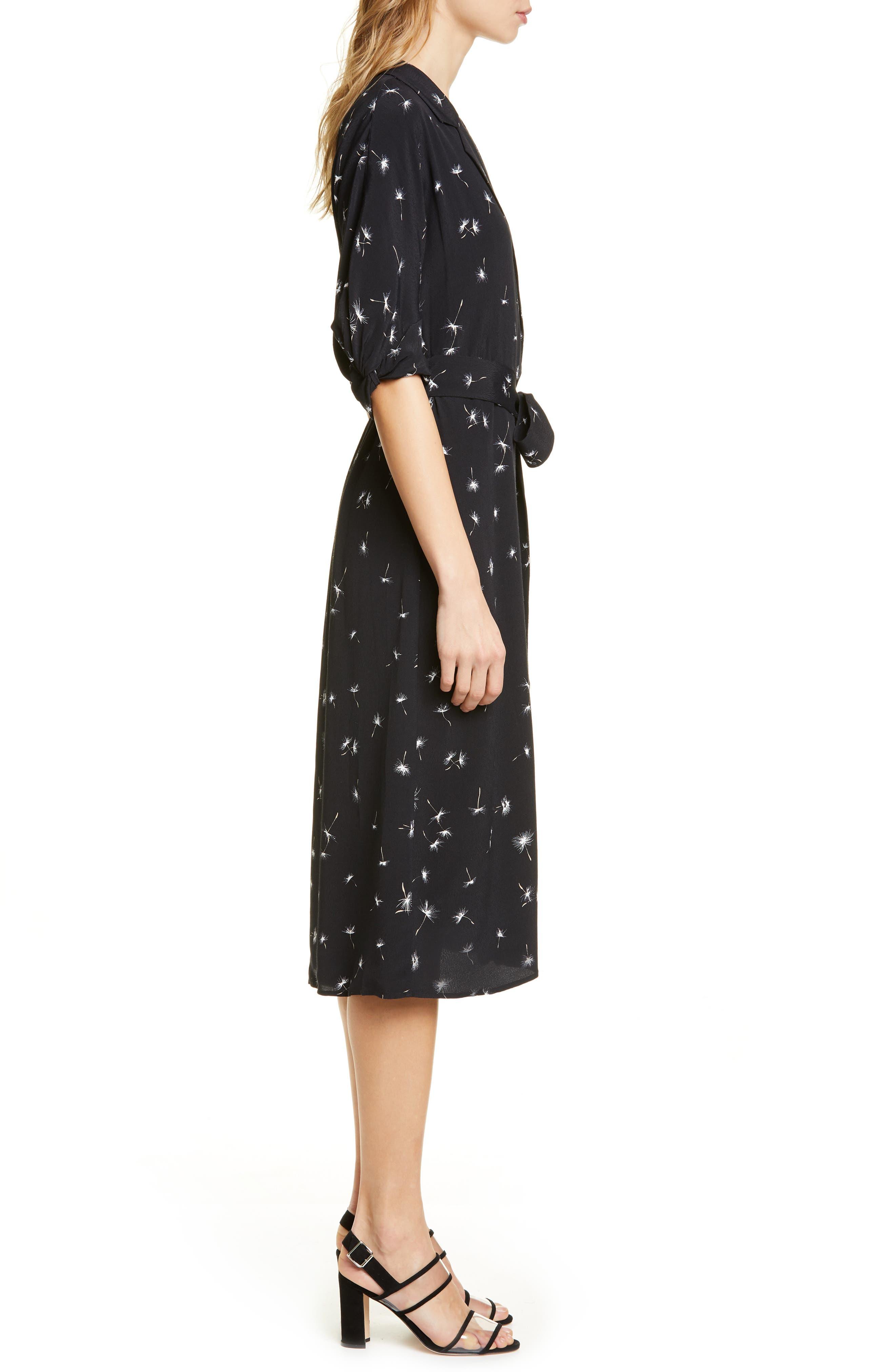 ,                             Anitone Faux Wrap Dress,                             Alternate thumbnail 4, color,                             TRUE BLACK MULTI