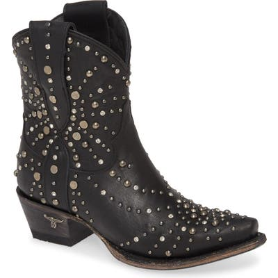 Lane Boots Sparks Fly Studded Short Western Boot, Black
