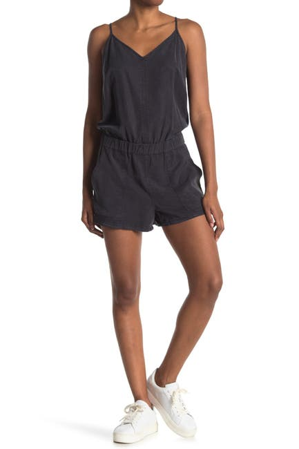 Image of PAM AND GELA Back Detail Sleeveless Romper