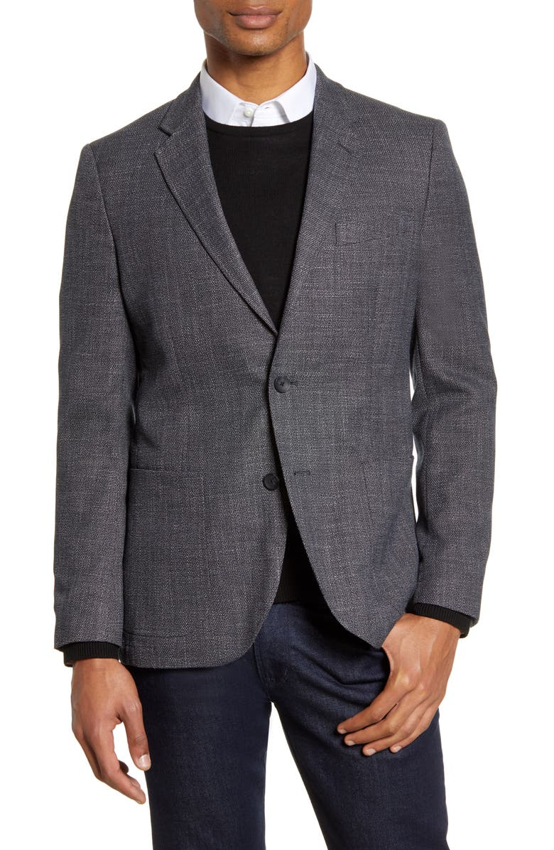 1901 Extra Trim Fit Solid Stretch Sport Coat, Main, color, NAVY NIGHT BLUE BASKETWEAVE