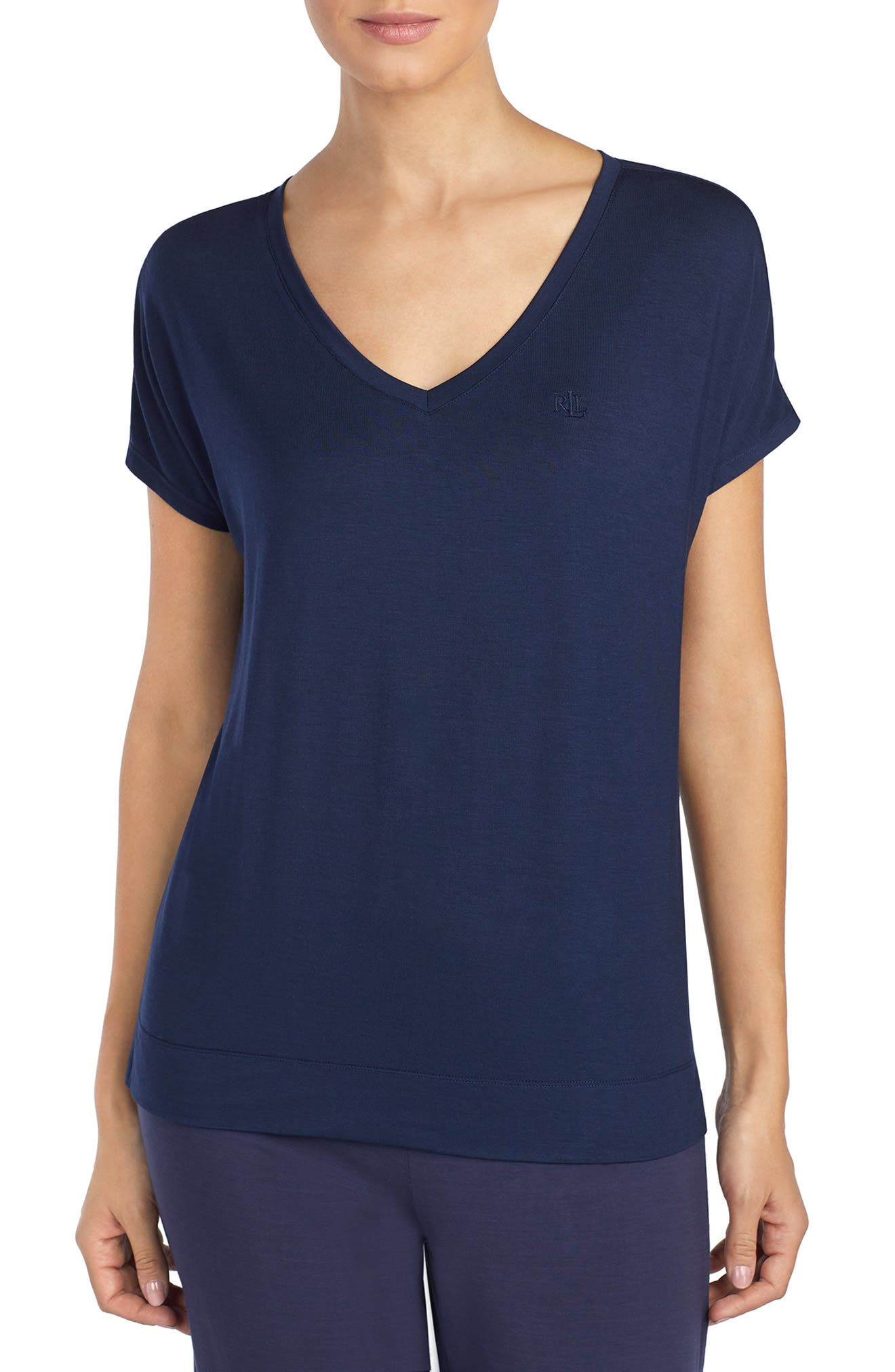 Pajama Tee, Main, color, NAVY