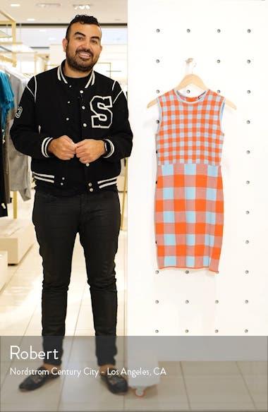 Chili Gingham Knit Dress, sales video thumbnail