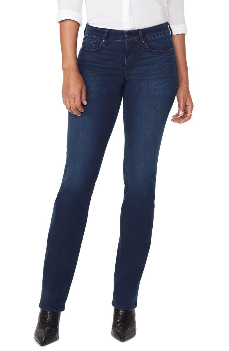 NYDJ Marilyn Cityscape Pocket Straight Leg Jeans, Main, color, MACONDRAY