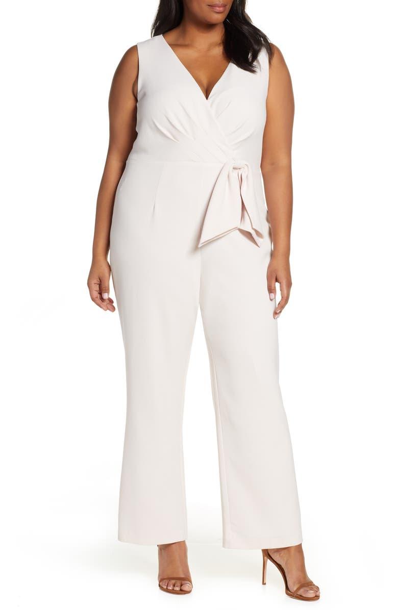 ELIZA J Faux Wrap Jumpsuit, Main, color, 684