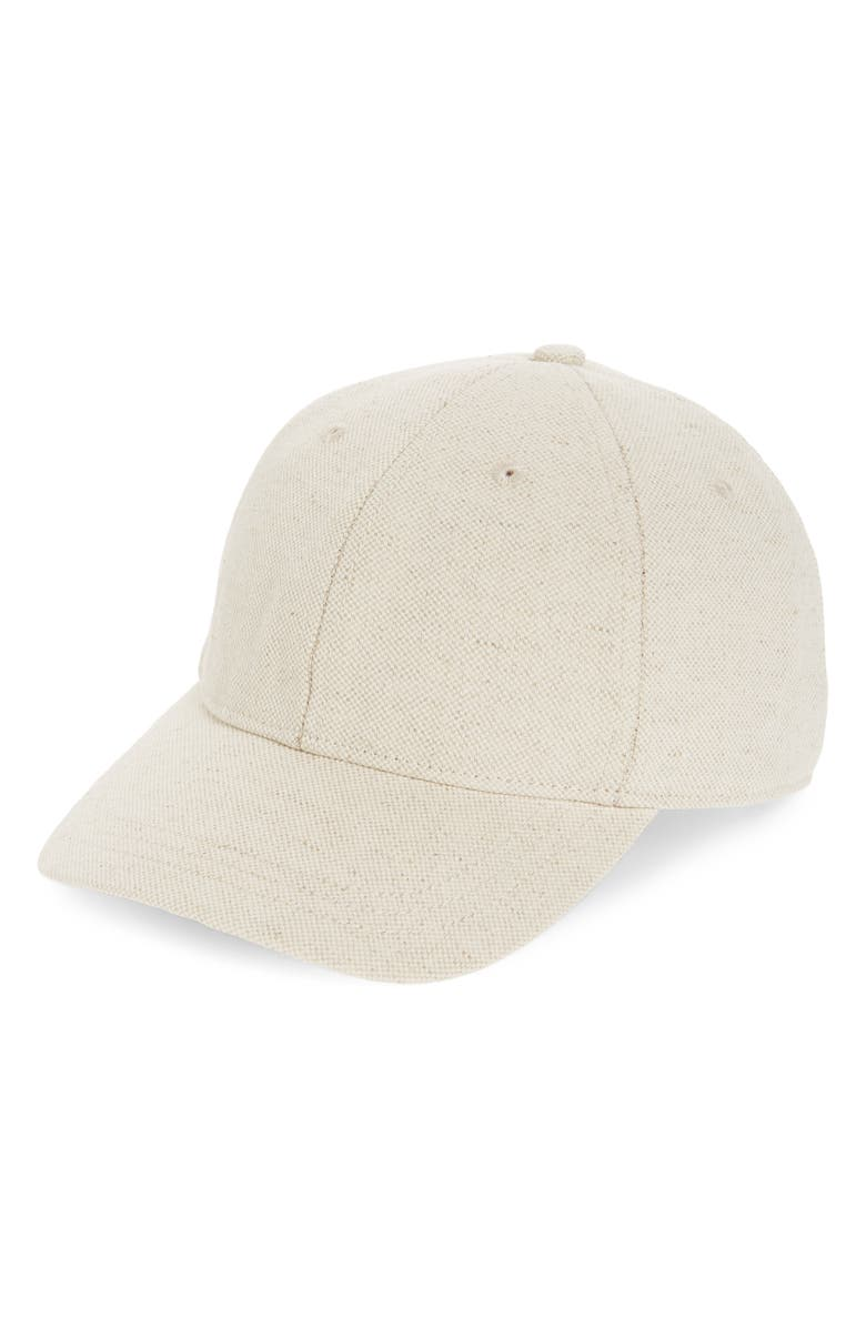 MADEWELL Cotton & Linen Baseball Cap, Main, color, CANVAS