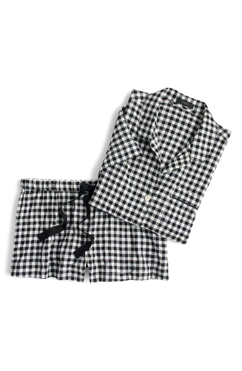 J.CREW Gingham Pajama Set, Main, color, 006