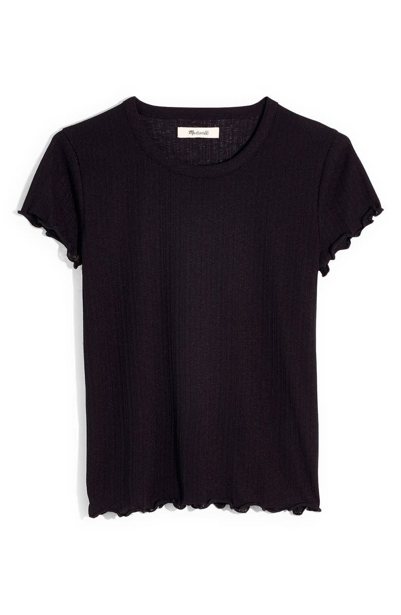 MADEWELL Summer Baby Tee, Main, color, TRUE BLACK