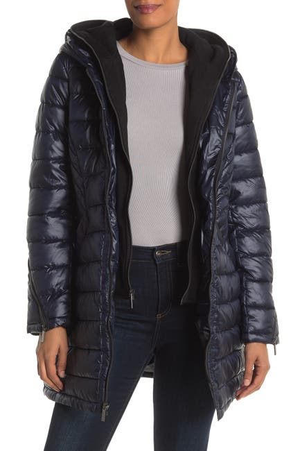 Image of French Connection Softshell Dickey Insert Puffer Jacket