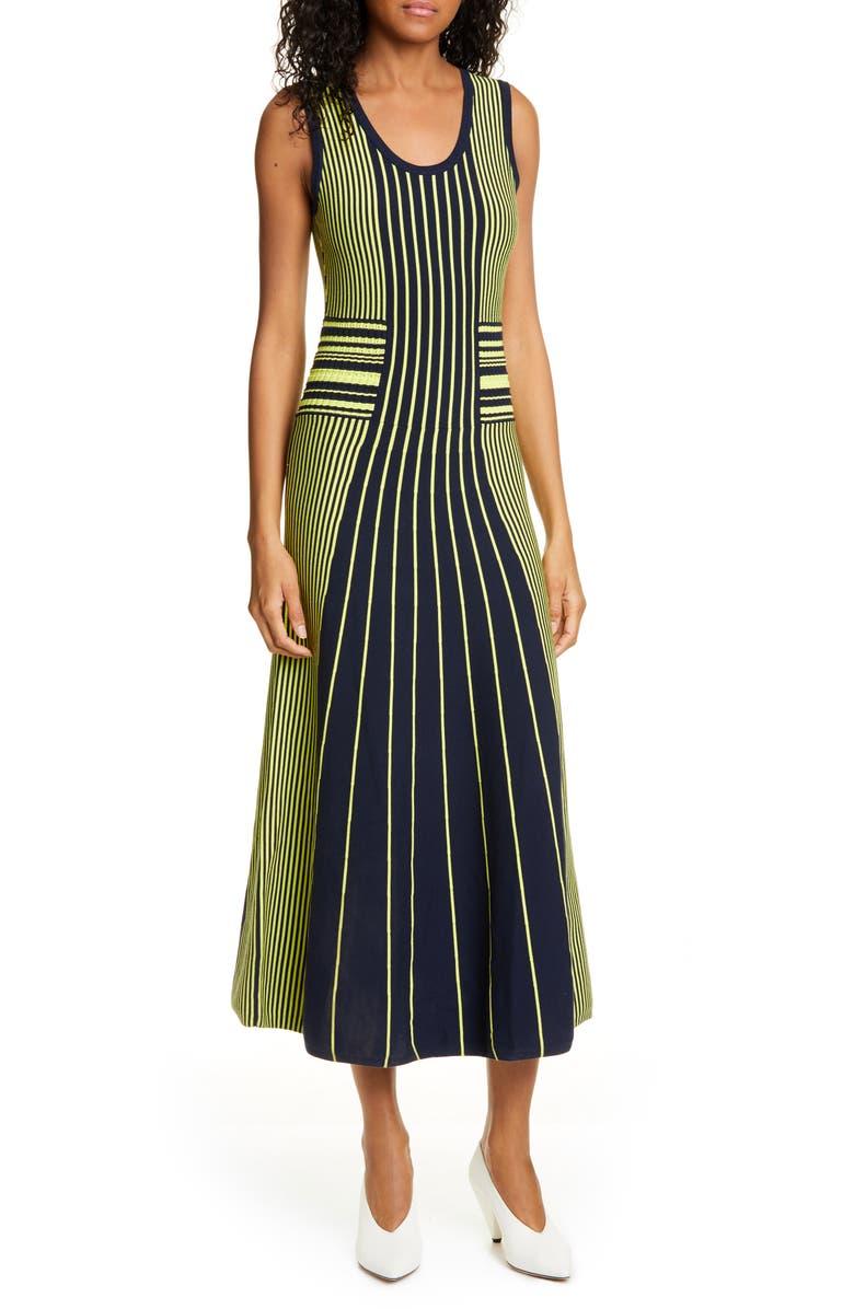 HUGO Silbiana Midi Sweater Dress, Main, color, 400