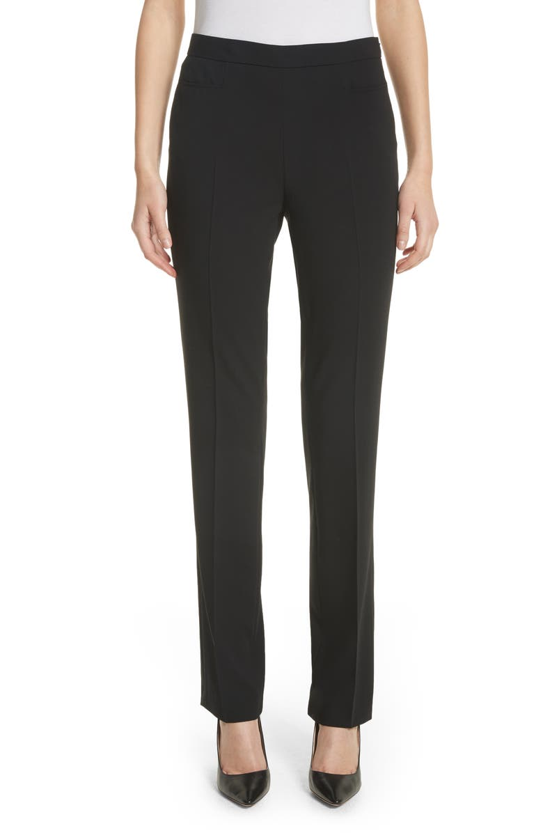 Akris Punto Francoise Wool Straight Leg Pants
