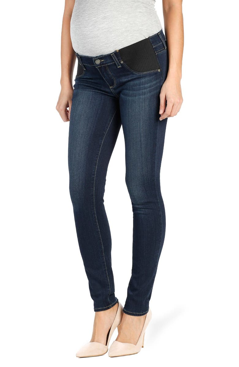 PAIGE 'Transcend - Verdugo' Ultra Skinny Maternity Jeans, Main, color, NOTTINGHAM
