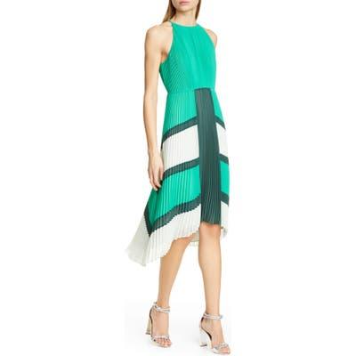 Ted Baker London Nellina Pleated Midi Dress, Green