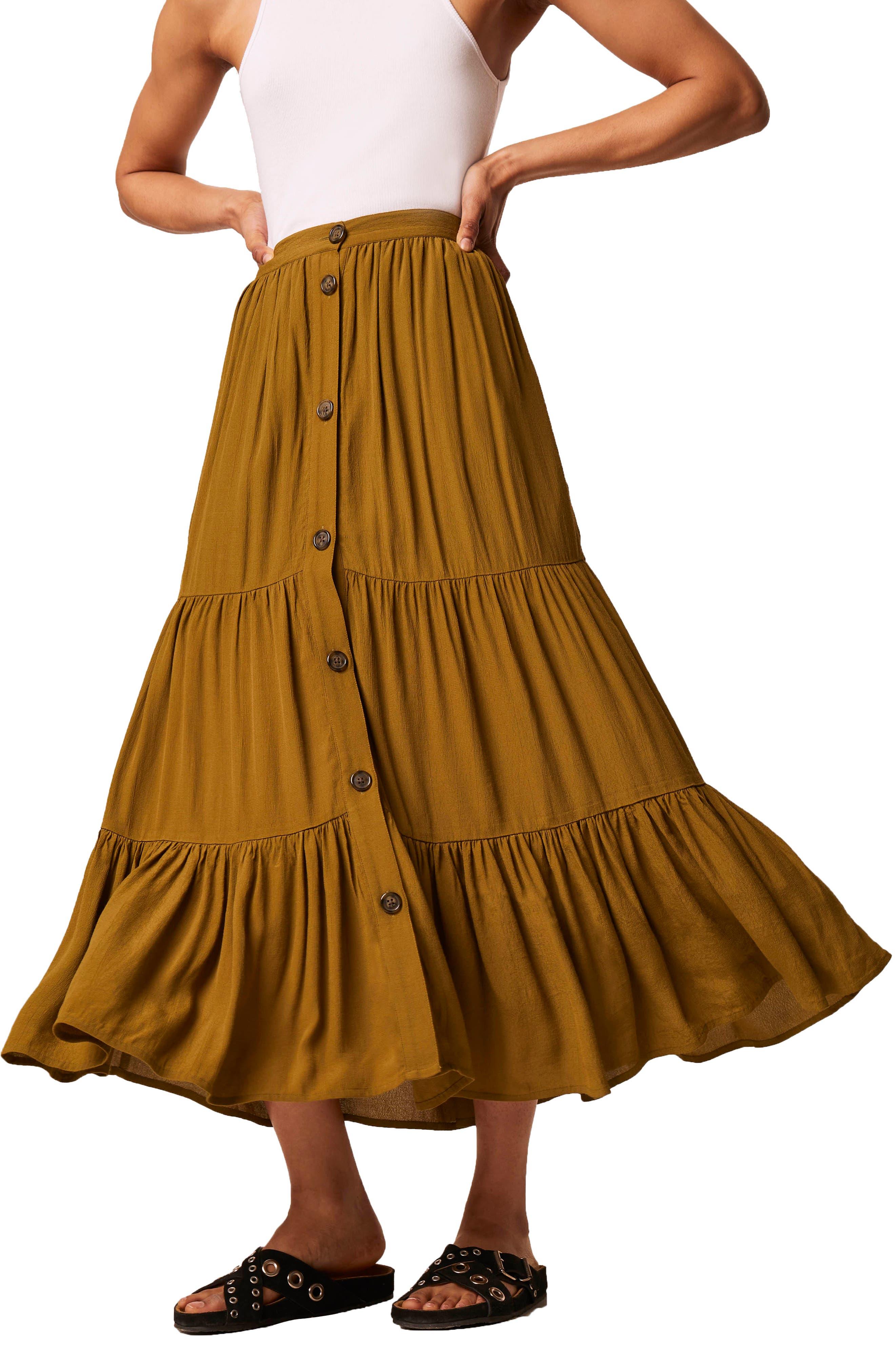 Easha Drape Maxi Skirt