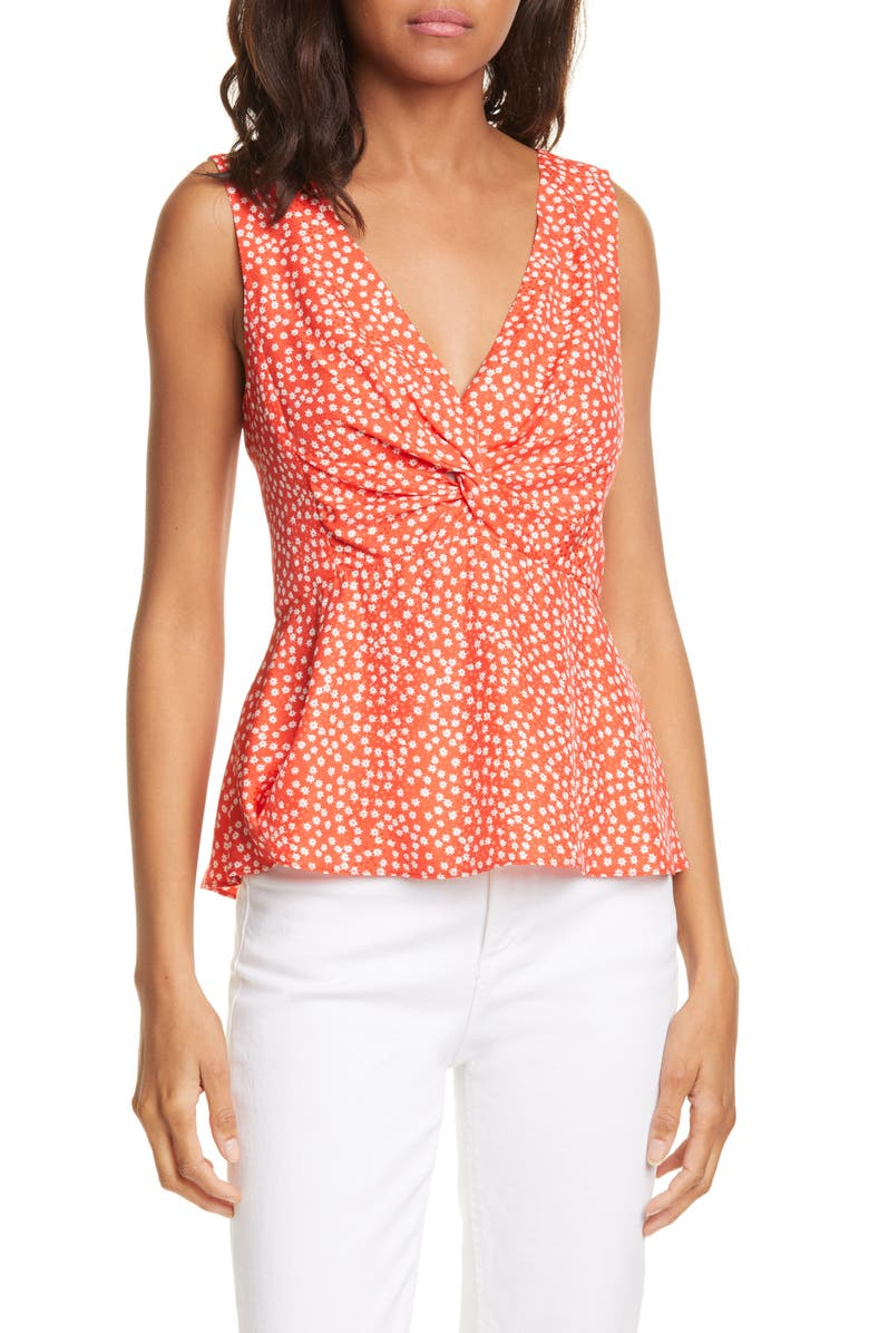 REBECCA TAYLOR Malia Top, Main, color, CHERRY COMBO