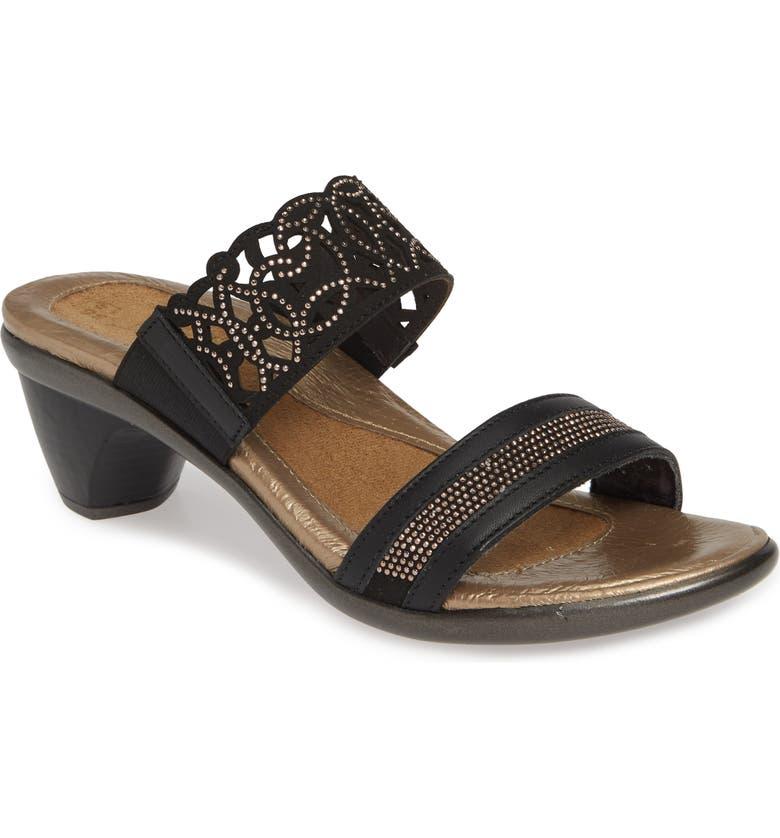 NAOT Contempo Slide Sandal, Main, color, JET BLACK