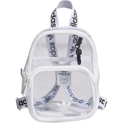 Adidas Originals Mini Clear Backpack - White