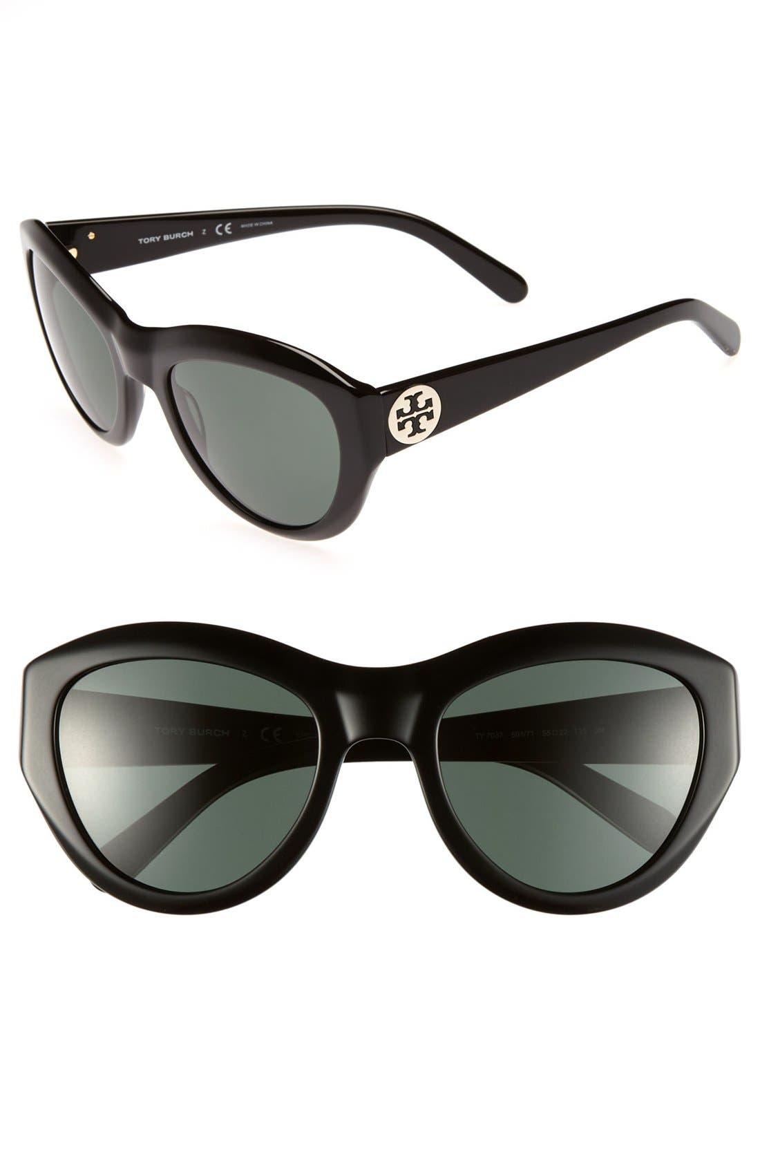 ,                             55mm Retro Sunglasses,                             Main thumbnail 1, color,                             001
