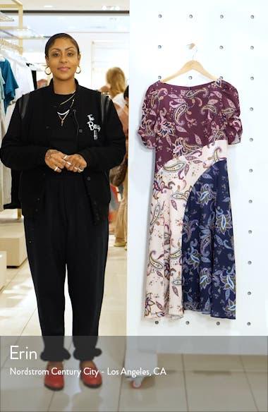 Paisley Pattern Mix Midi Dress, sales video thumbnail